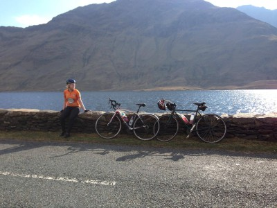 A training spin a couple of weeks ago with Anne-Marie (picture taken at Doolough, Co. Mayo)