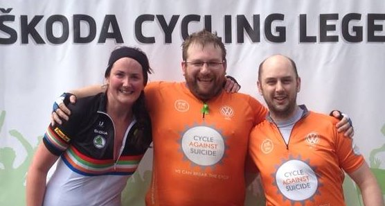 Sorcha, Alastair and Paul at the finish of Westportif 2014